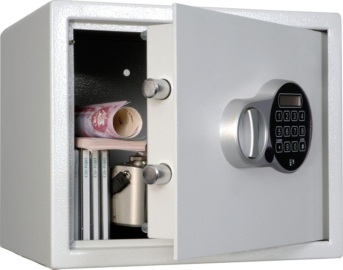 Сейф предназначен для хранения документов и ценностей дома, в офисе и в гостиничных номерах     толщина лицевой панели – 4 мм     толщина боковых стенок – 2 мм     комплектуются электронным отельным замком + аварийный мастер-ключ (Промет, Россия), работает от 4-х батареек ААA (1,5 V), программируемый шифр     замок оснащен звуковыми и световыми индикаторами     предусмотрено анкерное крепление к полу и стене