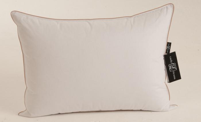 Подушка Lucky Dreams Comfort, батист, наполнитель: гусиный пух 1 категории, 50 х 68см подушка легкие сны sandman наполнитель гусиный пух категории экстра 50 х 68 см
