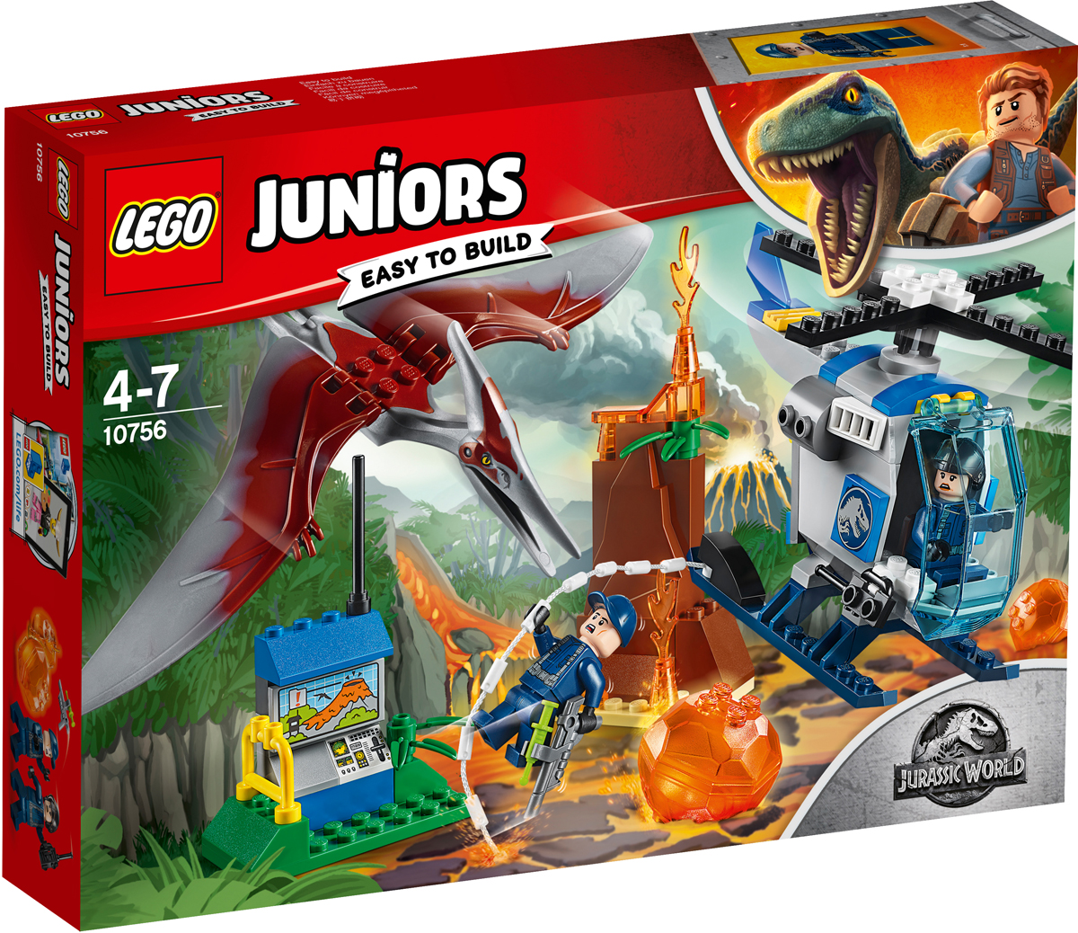 LEGO Juniors Конструктор Побег птеранодона конструктор lego 60137 city побег на буксировщике