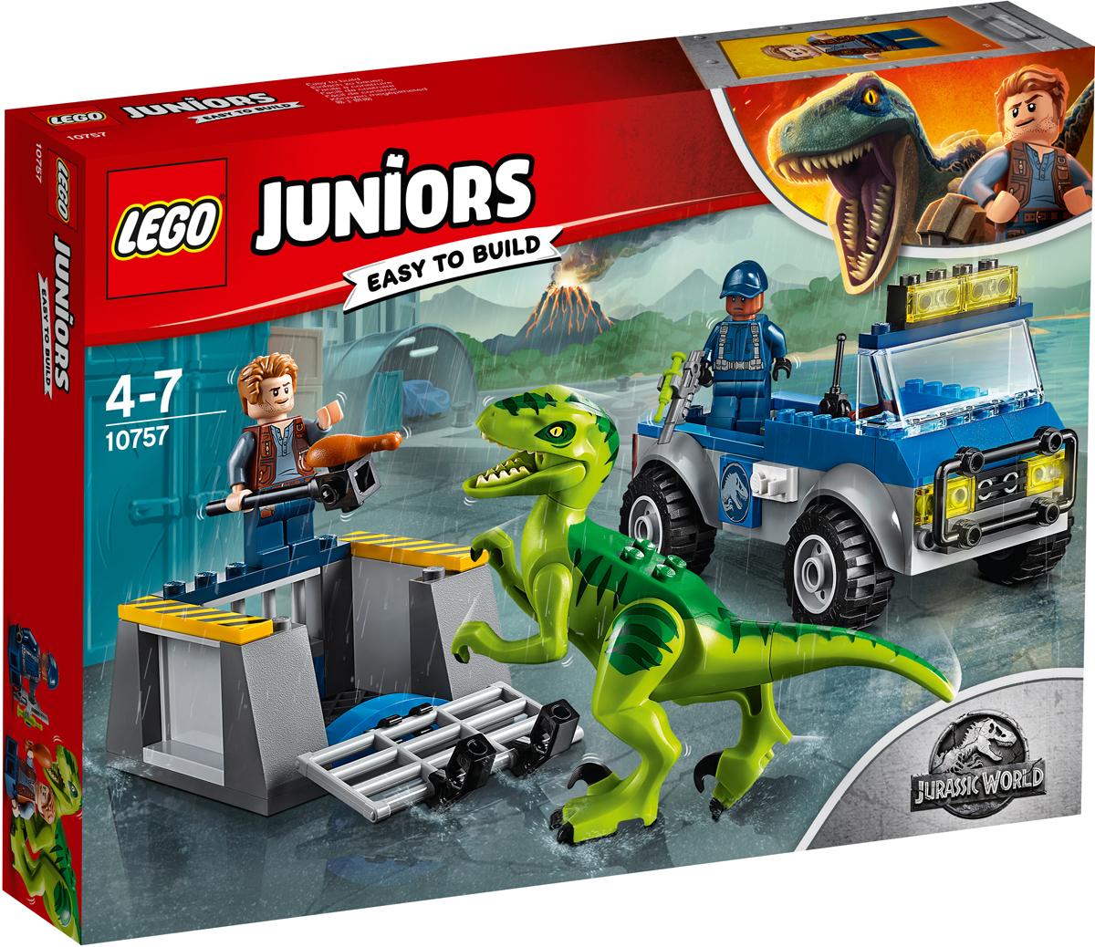 LEGO Juniors Конструктор Грузовик спасателей для перевозки раптора добойник rennsteig re 4460060 бородки обжимка для заклепочной головки 110x6 16mm 8kt