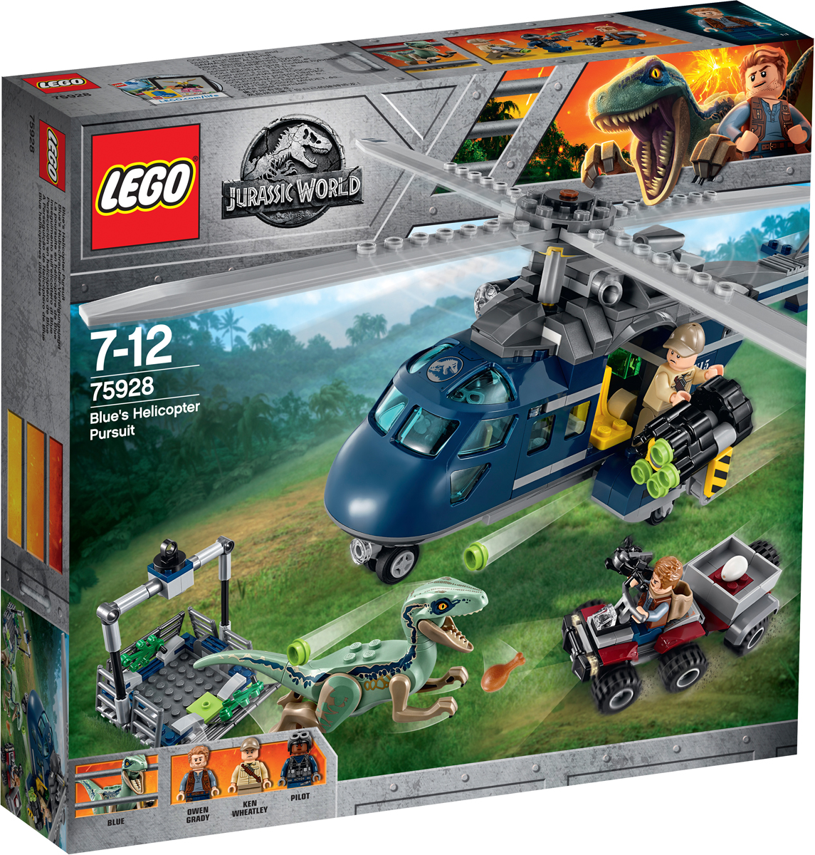 LEGO Jurassic World Конструктор Погоня за Блю на вертолете