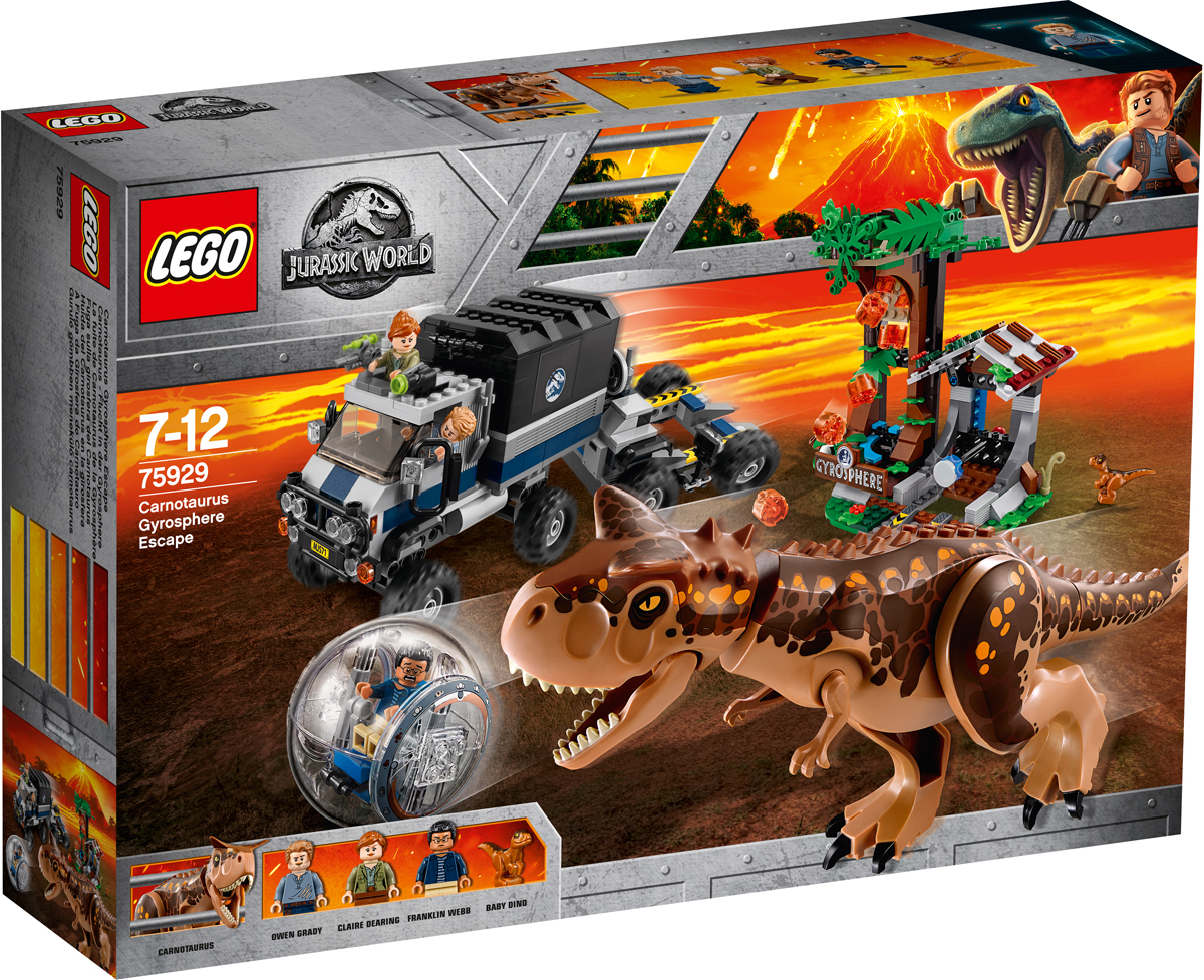 LEGO Jurassic World Конструктор Побег в гиросфере от карнотавра