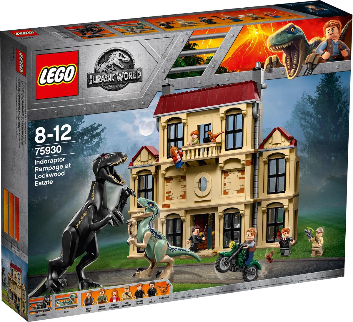 LEGO Jurassic World Конструктор Нападение индораптора в поместье lego конструктор супер герои нападение на башню мстителей lego 76038