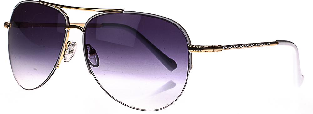 Очки солнцезащитные женские, цвет: черный, белый. 1803-7009_3