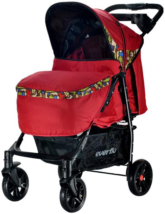 Everflo Коляска прогулочная Е-230 Safari Red Luxe - Коляски и аксессуары