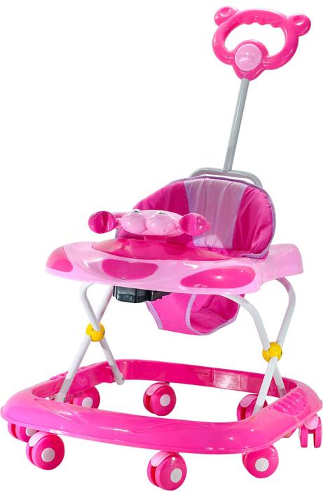 Everflo Ходунки Веселый крабик 618 цвет розовый