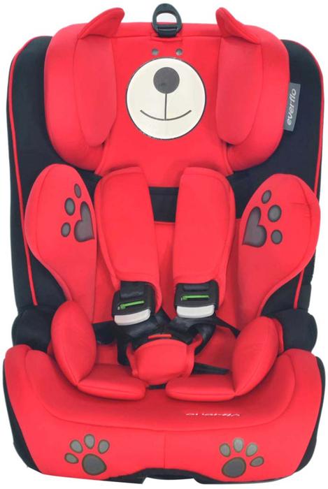 Автокресло Everflo Bear Keeper 968PB цвет красный от 9 до 36 кг