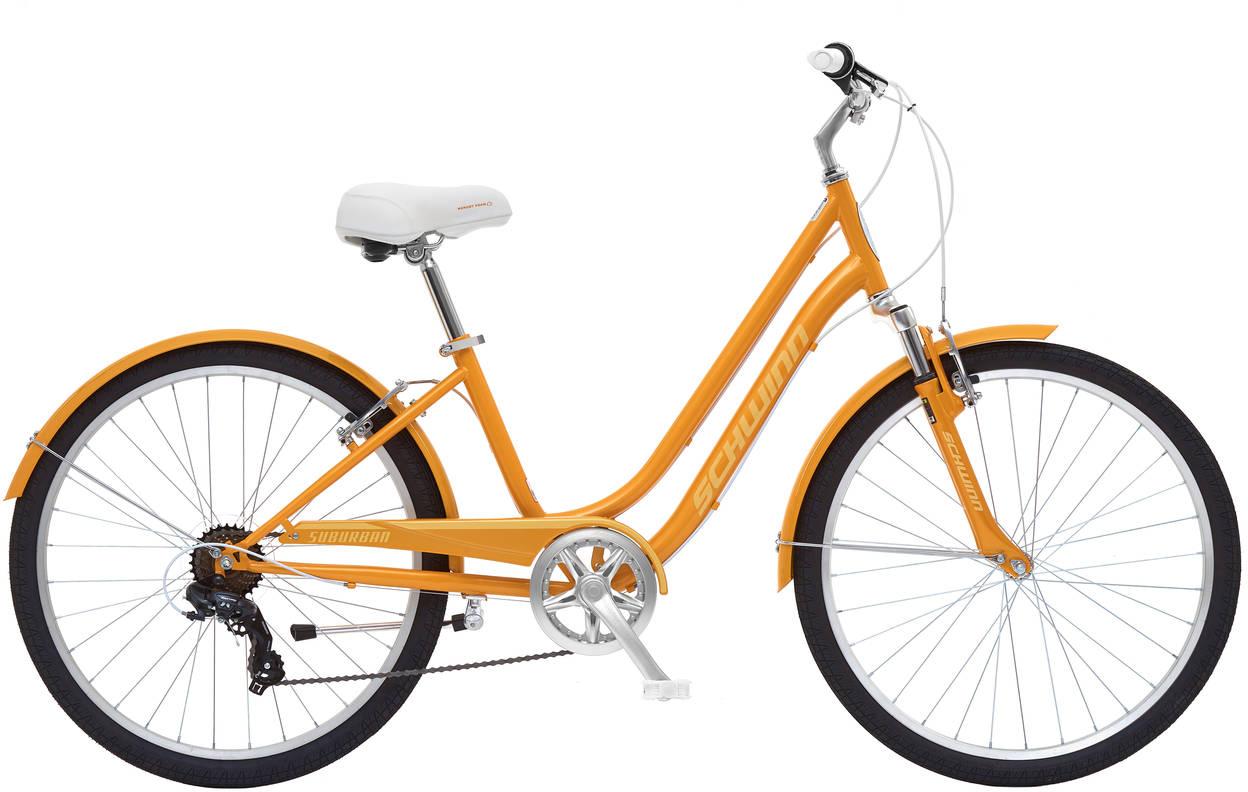Велосипед городской Schwinn Suburban Women, цвет: оранжевый, колесо 26