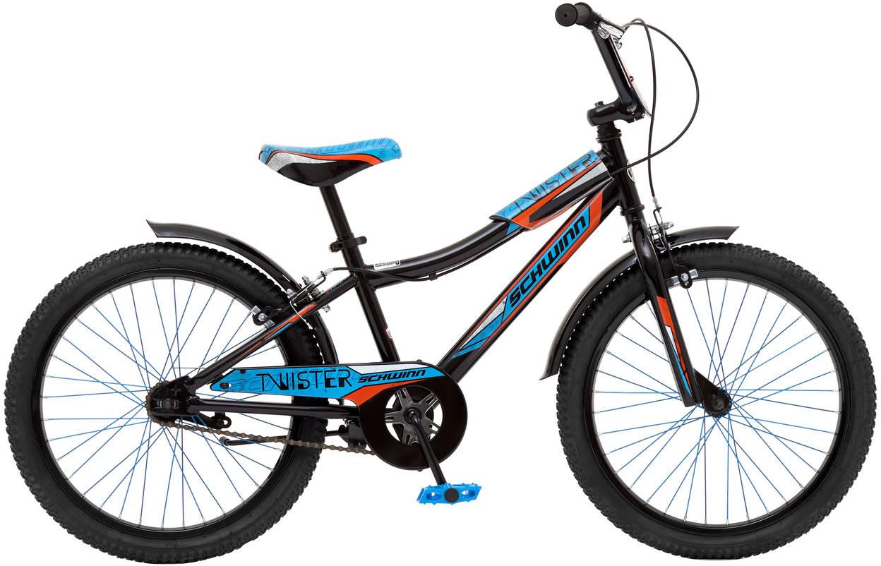 Велосипед детский Schwinn Twister, колесо 20, цвет: черный