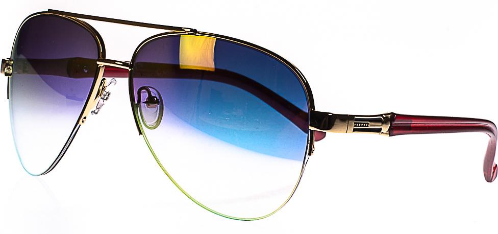 Очки солнцезащитные женские, цвет: золотистый, оранжевый. 1803-7022_4