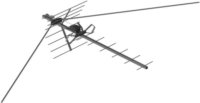 РЭМО BAS-1321-DX Альбатрос, Black сетевая уличная ТВ-антенна (активная)