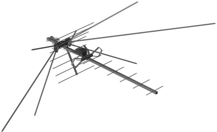 РЭМО BAS-1322-DX Твин Супер, Black сетевая уличная ТВ-антенна (активная)