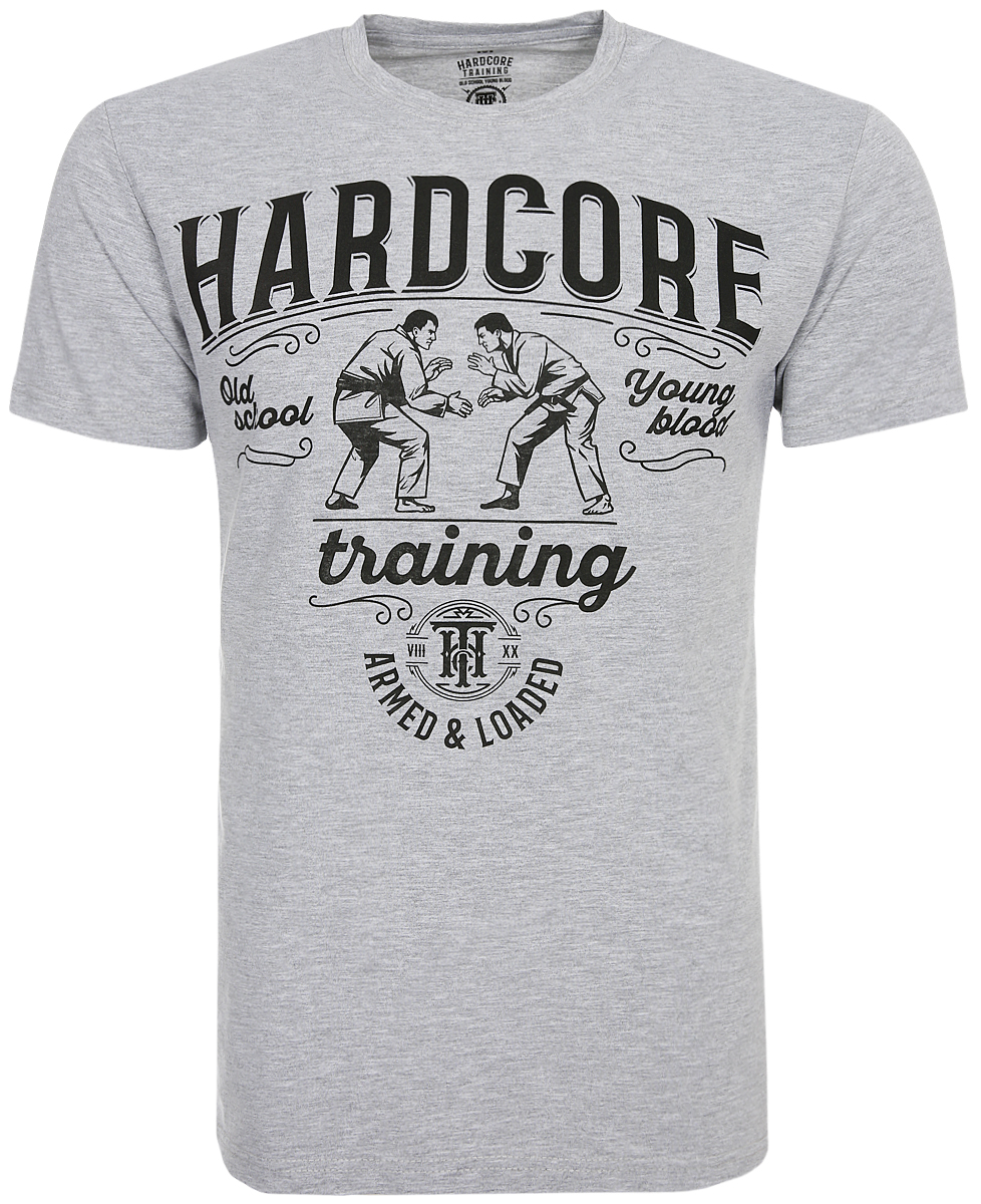 Футболка мужская Hardcore Training BJJ Melange, цвет: серый. hctshirt0215. Размер S (46) лонгслив спортивный hardcore training hardcore training ha020emqmf42