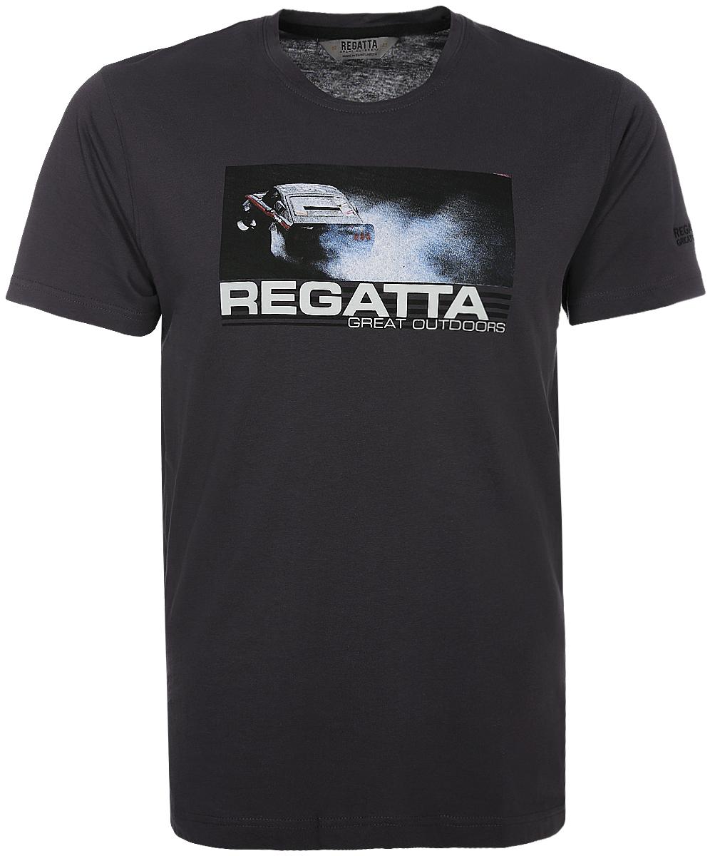 Футболка мужская Regatta Cline II, цвет: серый. RMT153-7NV. Размер L (52/54) футболка regatta футболка cline