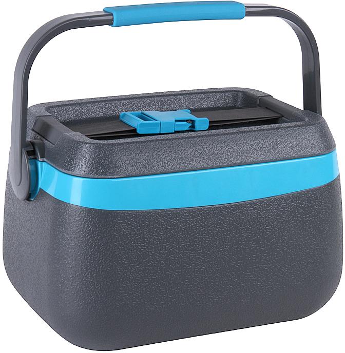 Фото - Контейнер изотермический Rosenberg, с аккумулятором холода, цвет: серый, бирюзовый, 5 л контейнер изотермический rosenberg с аккумулятором холода цвет синий белый 8 л