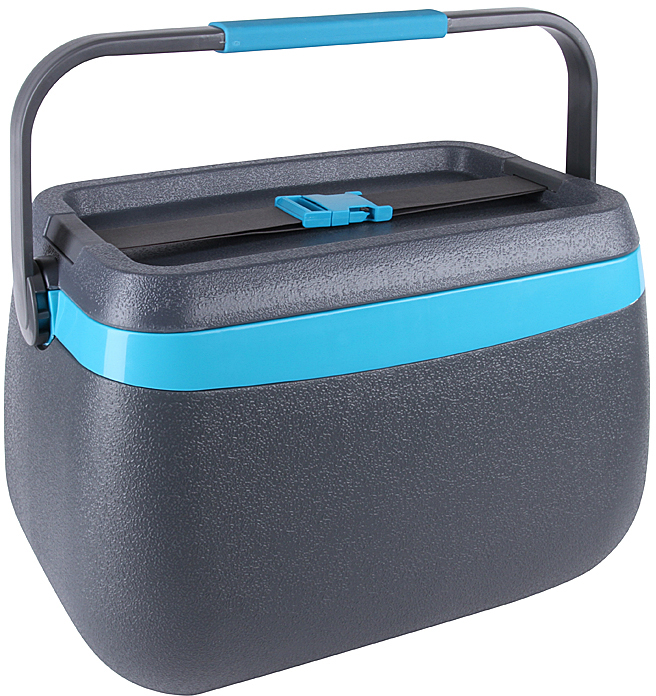 Изотермический контейнер Rosenberg RPL-805008 предназначен для хранения продуктов при нужной температуре. Благодаря своим пластиковым стенкам с термоизоляционным слоем, теромконтейнер может сохранять стабильную и оптимальную температуру, при которой ваши продукты не будут размораживается, таять или остывать. Безопасные материалы отделки позволяют хранить в таком контейнере совершенно разные продукты, начиная от фруктов и овощей, заканчивая скоропортящимися продуктами. Охлажденные продукты даже в жаркие дни! С изотермическим контейнером фрукты, овощи и даже готовые блюда сохранят свою свежесть и естественный вкус намного дольше, чем если бы вы их хранили в простой корзинке для пикника, продуктовой термосумке. Такой контейнер подходит для хранения не только продуктов, но и напитков. Просто положите в него уже охлажденные до комфортной для вас температуры сок, чай или воду, положите к ним аккумулятор холода и можете наслаждаться спасительной прохладой в очень жаркие и знойные дни. Главные достоинства контейнера Корпус контейнера выполнен из прочного пластика, который также отличается своей устойчивостью к воздействию УФ-лучей. Вмещает до 18 литров, поэтому можно расположить все самое необходимое. Удобная съемная крышка. Ручка для комфортной переноски легко поднимается и опускается. Устойчивая и долговечная конструкция. В таком контейнере ваши продукты не помнутся и не потеряют свой вид. Изделие очень легко моется, поэтому уход за ним не составит никакого труда. Контейнер станет незаменимым приобретением для тех, кто занимается рыбалкой, охотой или просто любит часто выбираться на природу. Несколько советов по использованию Чтобы контейнер долго эффективно поддерживал нужную температуру, рекомендуется не оставлять его открытым или часто поднимать крышку. Заполняйте его уже замороженными или охлажденными продуктами. Изотермический контейнер работает за счет аккумуляторов холода, которые следует оставлять в морозилке до полной заморозки жидкости. В комплект входят 2 специ