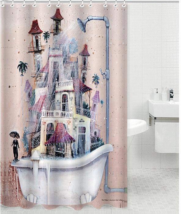 Штора для ванной комнаты Rosenberg RPE-730022 — незаменимый аксессуар практического и эстетического назначения. Изделие поможет не только укрыться от посторонних взглядов во время принятия душа или ванны, но и убережет пол от попадания водяных брызг.   Быстро сохнет и легко очищается от загрязнений.   Элегантное оформление дополнит интерьер ванной комнаты, добавит уюта.   В комплекте 12 крючков для удобства крепления.   Штора выполнена из полиэстеровой ткани: материал отличается долговечностью и простотой в уходе.