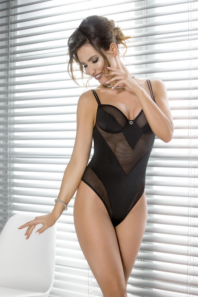 Эротическое боди женское Casmir Sissey, цвет: черный. 04316. Размер S/M (42/44) боди vilte s m