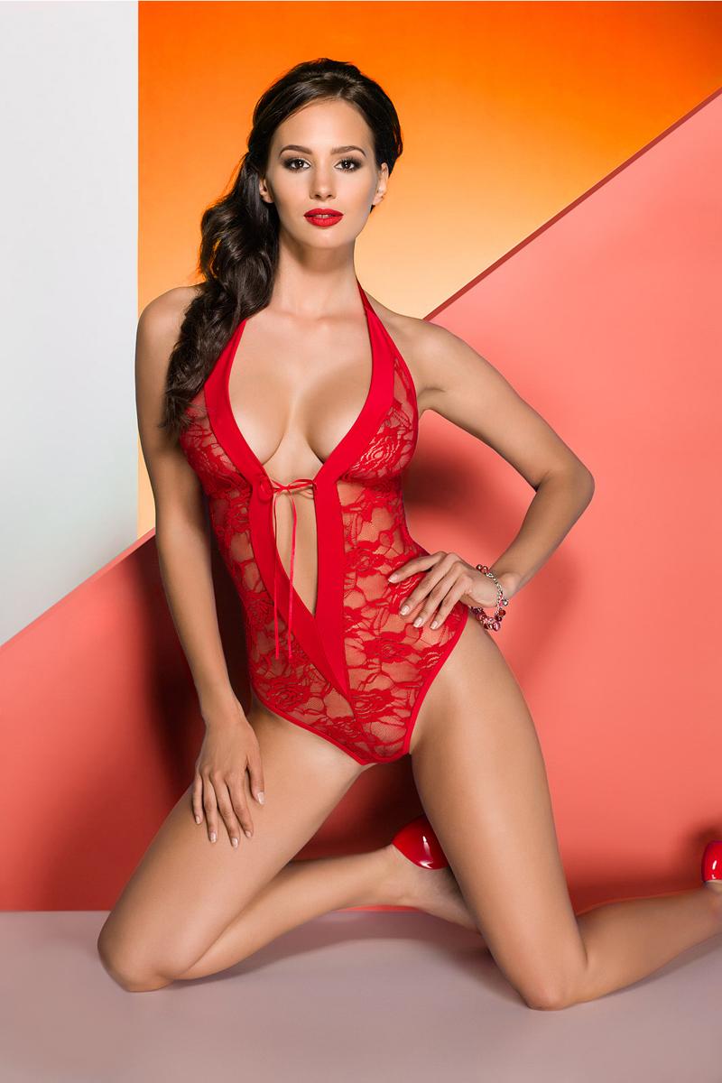 Эротическое боди женское Avanua Rayen, цвет: красный. 03579. Размер S/M (42/44) эротическое белье женское avanua rayen цвет черный 03582 размер s m 42 44