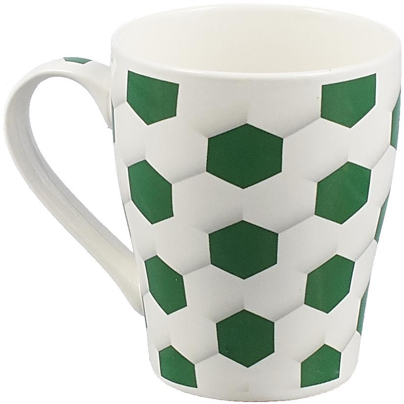 Кружка Loraine Футбол, цвет: зеленый, 340 мл. 26646 loraine