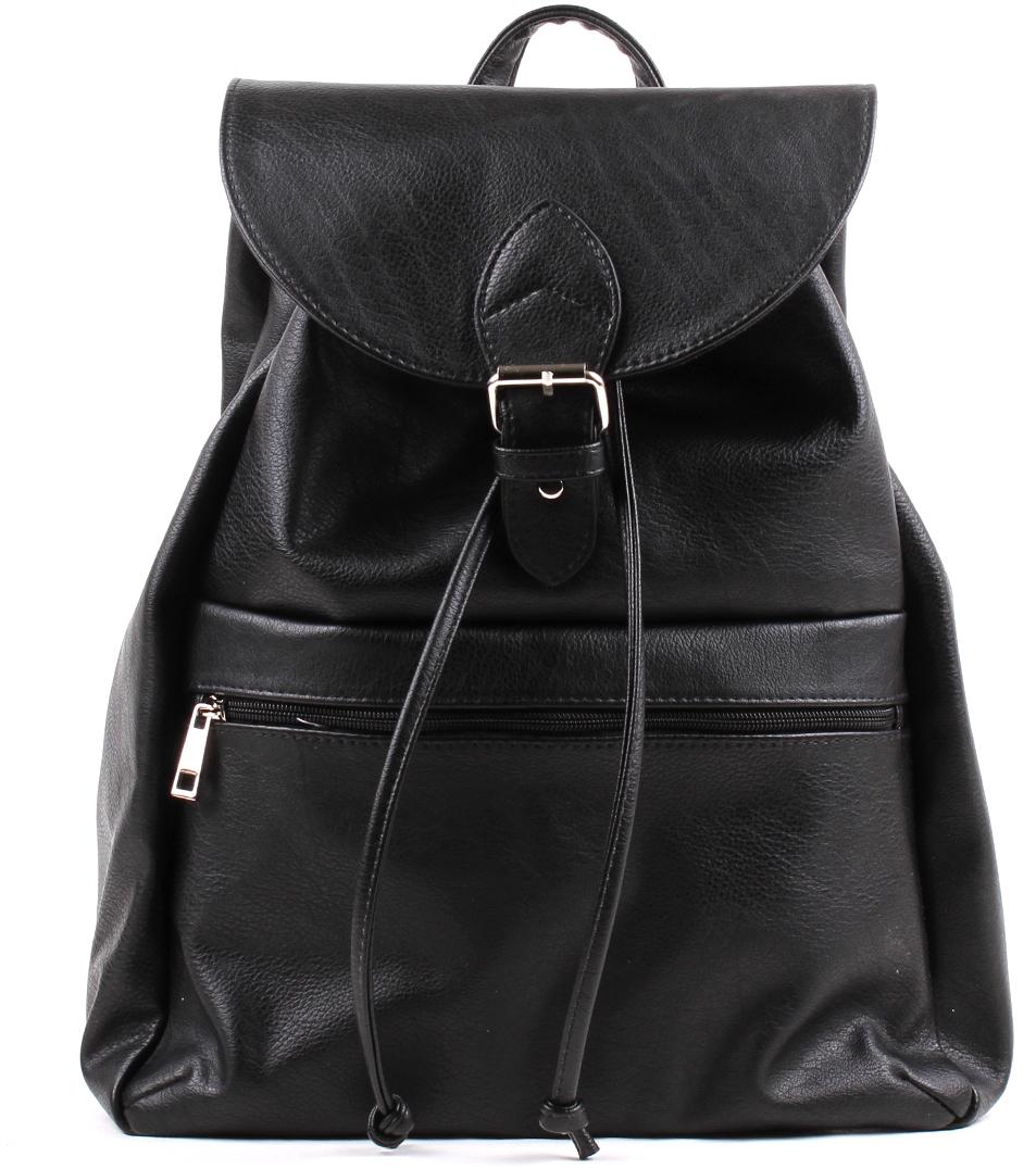 Сумка-рюкзак женская Медведково, цвет: черный. 18с0277-к14