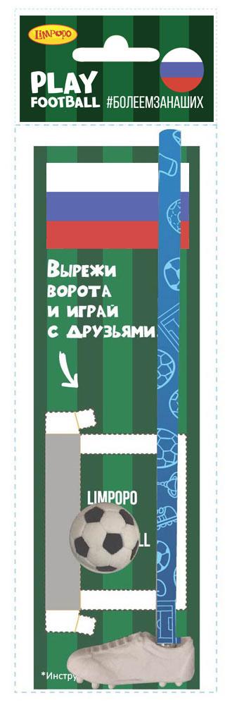 Limpopo Канцелярский набор Play Football Россия 4 предмета530009Канцелярский набор Limpopo Play Football состоит из ластика-бутсы, ластика-мяча, карандаша, игрового поля OPP в пакете с евро подвесом.