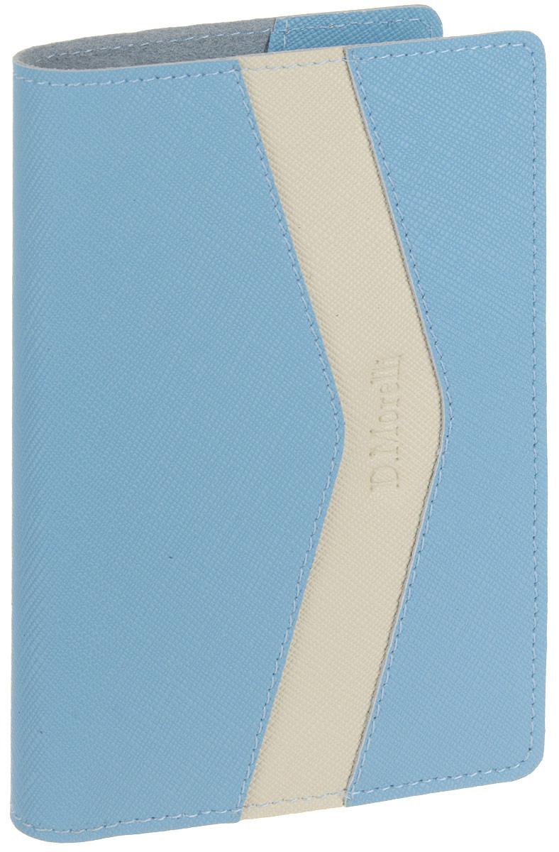 Обложка для паспорта женская D. Morelli Монро, цвет: голубой. DM-PS09-RK087