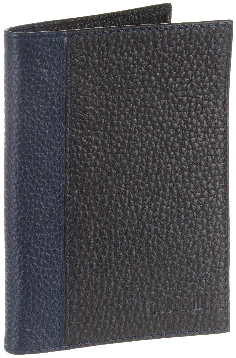 Обложка для паспорта мужская D. Morelli Тарго, цвет: черный. DM-PS02-FF81 обложки domenico morelli обложка для паспорта с отделением для карт эльза принт колибри