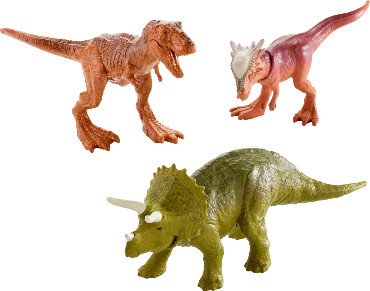 Jurassic World Фигурка Мини-динозавры 3 шт FPN84 mattel фигурка динозавра jurassic world мини динозавры