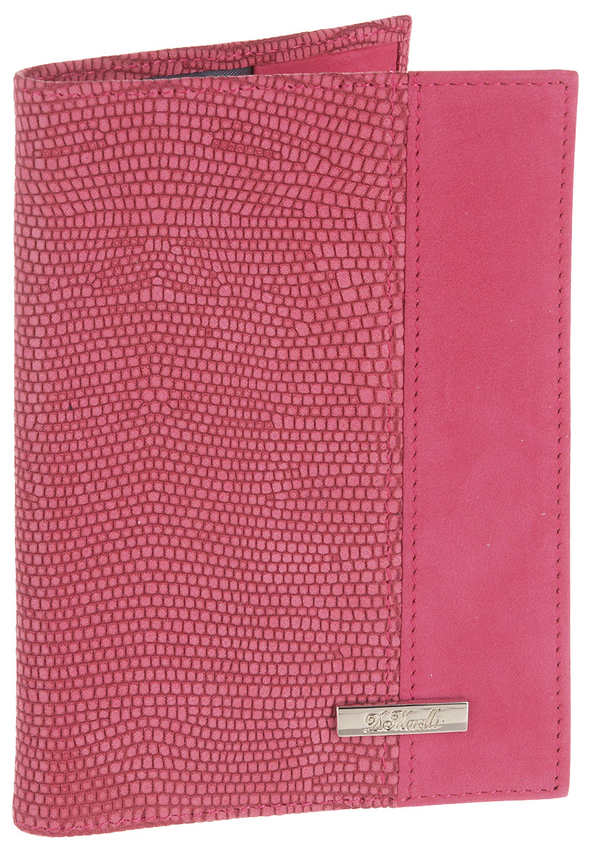 Обложка для паспорта женская D. Morelli Violetta, цвет: малиновый. DM-PS02-NB50Натуральная кожаВнутренний функционал: кожаные карманы и 4 прорезных кармашка для пластиковых карт.