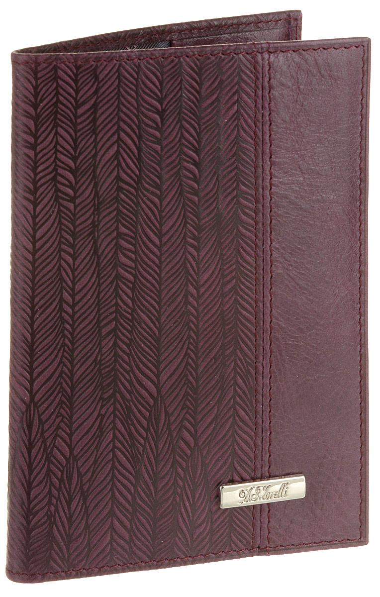 Обложка для паспорта женская D. Morelli Паола, цвет: бордовый. DM-PS02-KT47