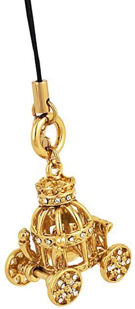 Цвет кристаллов: белый. Покрытие гальваническое - золото 585 пробы. длина-25 мм, ширина-27 мм, высота 20 мм, общая длина-50 мм