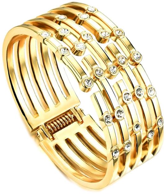 Браслет женский Ice&High, цвет: золотой, белый. ZB888655