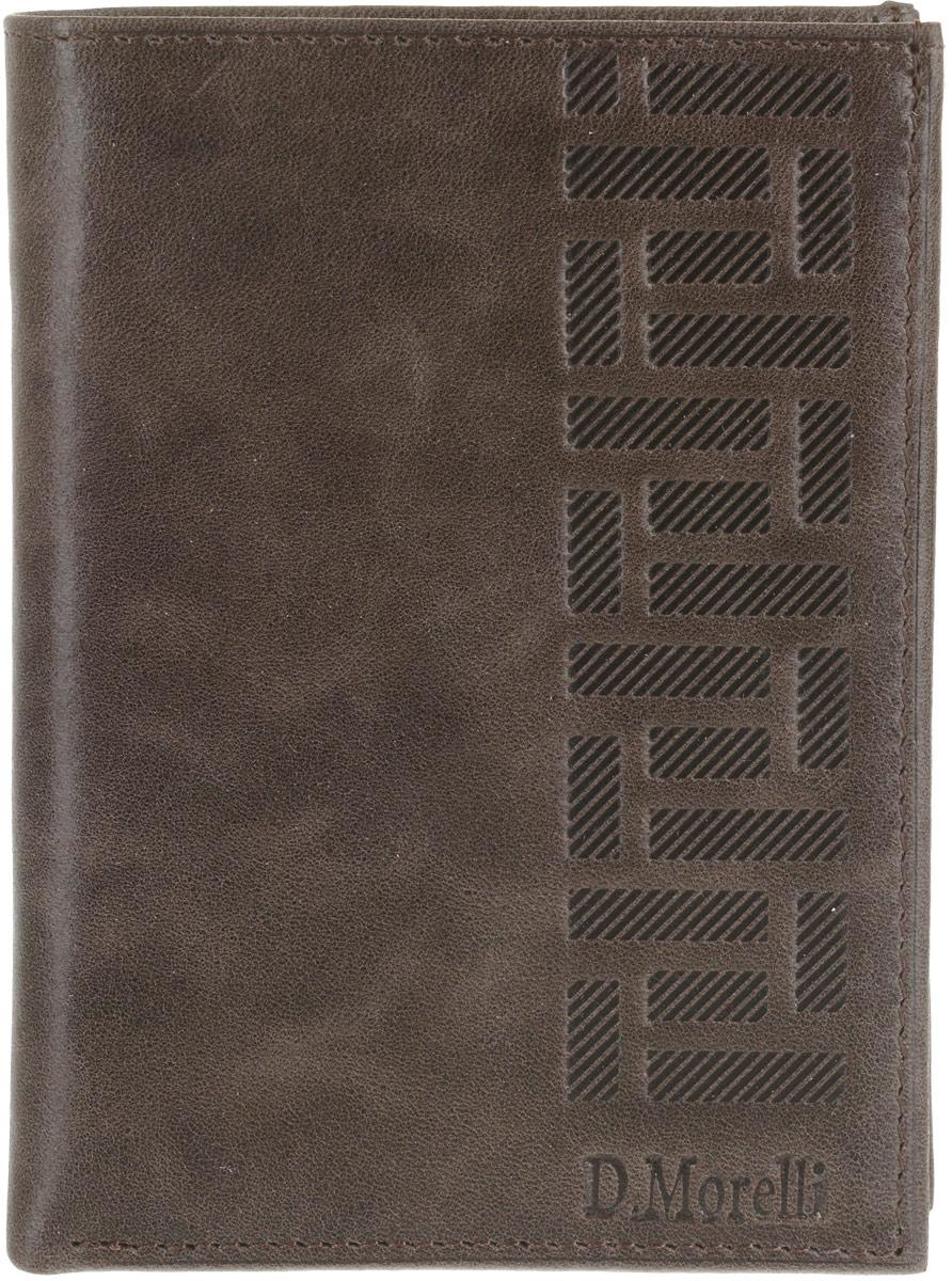 Обложка для паспорта мужская D. Morelli Колизей, цвет: коричневый. DM-PS02-K024 обложки domenico morelli обложка для паспорта с отделением для карт эльза принт колибри