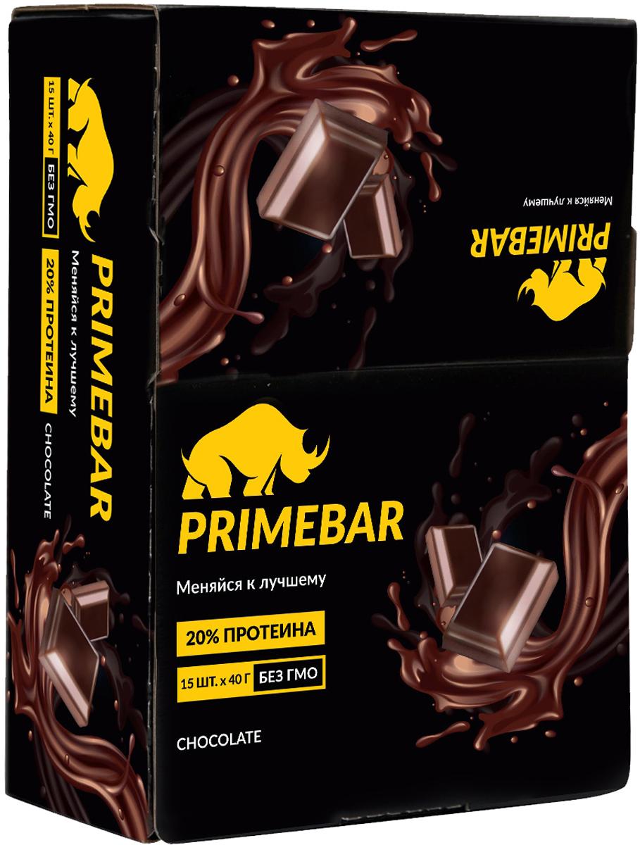 Батончик протеиновый Prime Kraft Primebar, со вкусом шоколада, 15 шт по 40 г протеин prime kraft whey банановый йогурт 900 г