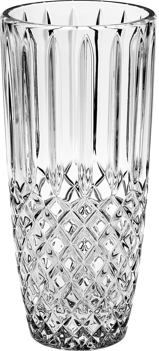 "Ваза Crystal Bohemia ""Diamond"", цвет: прозрачный, высота 27 см"