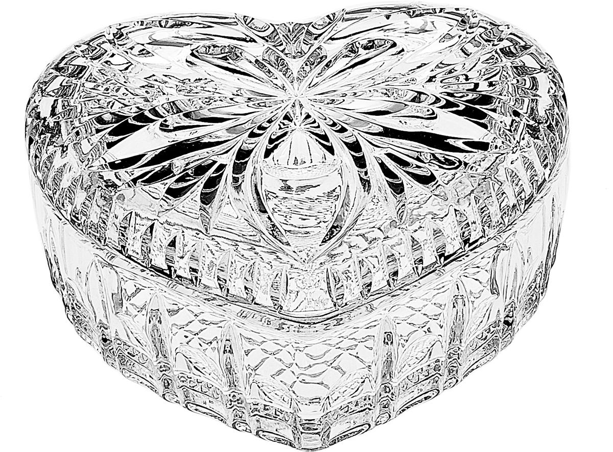 Шкатулка Crystal Bohemia Сердце, цвет: прозрачный, 13,2 x 5,9 x 13 см. 990/54700/1/41200/130-109990/54700/1/41200/130-109Настоящий чешский хрусталь c содержанием оксида свинца 24%, что придает ему неповторимую игру света всеми цветами спектра за счет исключительного светопреломления, абсолютную прозрачность и поразительный блеск.Хрусталь - атрибут роскоши в доме и благосостояния его хозяев.Экологически чистый материал.