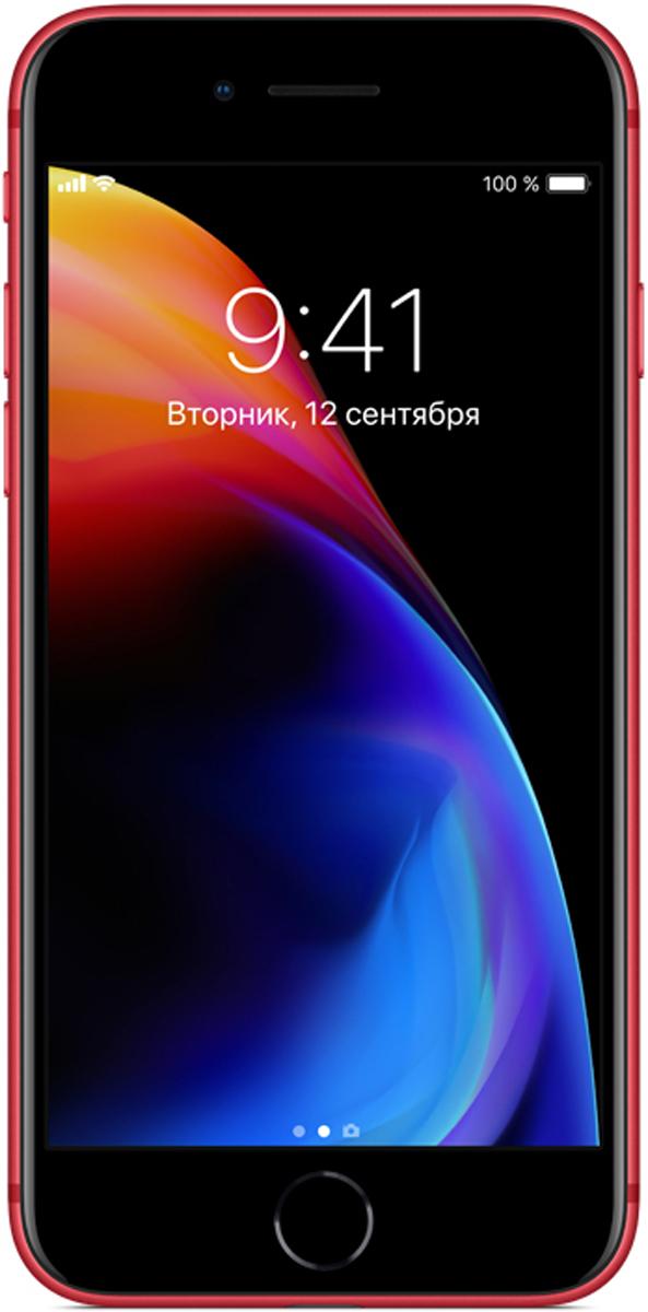 Apple iPhone 8 (PRODUCT)RED Special Edition 64GBMRRM2RU/AiPhone 8 - это новое поколение iPhone. Впервые передняя и задняя панели iPhone выполнены из стекла. Самаяпопулярная камера усовершенствована. Установлен самый умный и мощный процессор, когда-либо созданныйдля iPhone. Без проводов процесс зарядки становится элементарным. А дополненная реальность открываетневиданные до сих пор возможности.Такого прочного стекла с обеих сторон у iPhone ещё не было. Рамка в тон корпусу выполнена из алюминия,применяемого в аэрокосмической отрасли. Благодаря продуманному инженерному решению корпус iPhone 8отлично защищён от воды, брызг и пыли. Олеофобное покрытие позволяет легко избавиться от пятен иотпечатков пальцев.Благодаря продуманному инженерному решению корпус iPhone 8 отлично защищён от воды, брызг и пыли.Apple всегда хотела сделать iPhone полностью беспроводным: никаких кабелей или проводов от наушников.iPhone 8 с задней панелью из стекла и поддержкой беспроводной зарядки готов к беспроводному будущему.Обновлённые стереодинамики iPhone 8 стали до 25% громче и отлично воспроизводят глубокие басы.Увеличьте громкость и оцените потрясающее звучание музыки, видео и звонков по громкой связи.Технология Touch ID позволяет защитить информацию идеальным паролем - вашим отпечатком пальца. Выможете мгновенно разблокировать телефон и войти в любимые приложения. Touch ID поддерживает функциюApple Pay, которая позволяет оплачивать покупки в магазинах, приложениях и на веб-сайтах.Изображение на дисплее Retina HD стало ещё точнее и красивее. Новый дисплей поддерживает расширенныйцветовой охват, технологии True Tone и 3D Touch. Технология True Tone автоматически настраивает балансбелого с учётом освещения. Чтобы радовать глаз в любом случае.Благодаря новой матрице передовые технологии фотосъёмки становятся доступнее - теперь каждый можетснимать прекрасные фото и видео без дополнительных настроек. Кроме того, камера iPhone 8 позволяетполностью погрузиться в захватывающий мир дополненной реаль