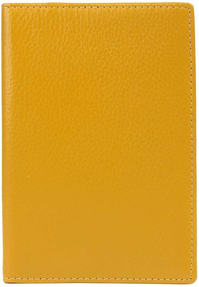 Обложка для паспорта женская Janes Story, цвет: желтый. H-01-PL-01-67Натуральная кожаОбложка для паспорта из натуральной зернистой кожи сохранит важный документ и подчеркнет ваш изысканный вкус. Упакована в красивую картонную коробочку, прекрасный подарочный вариант.