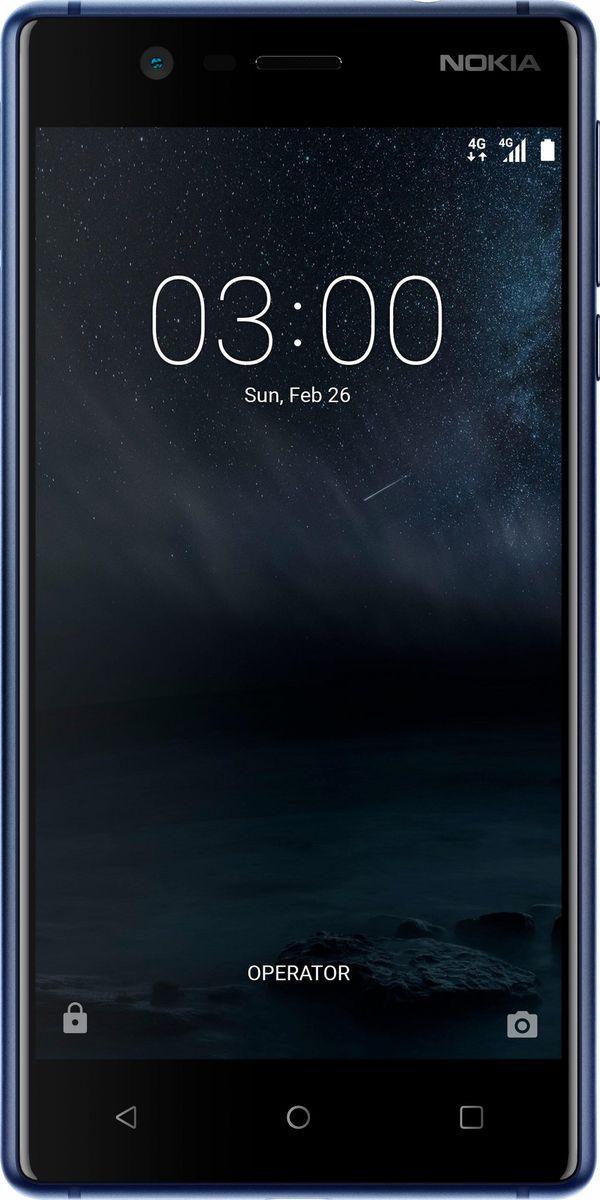 Nokia 3, Blue11NE1L01A06В Nokia 3 нашли воплощение все классические признаки бренда: изысканно красивый корпус из поликарбоната, прочный алюминиевый каркас, тщательно проработанные детали и оптимальная для повседневного использования производительность.Правильно подобранные технологии и материалы — это залог удобства при повседневном пользовании устройством. Дисплей повышенной прочности Corning Gorilla Glass и тщательно выточенный алюминиевый каркас обеспечивают высокий уровень защиты.Много лет устройства Nokia не знали себе равных с точки зрения дизайна и качества изготовления. И этот телефон обладает множеством важных преимуществ: прочные, эффектные материалы, эргономичность, идеальный баланс между производительностью и временем работы от аккумулятора.Регулярное обновление программного обеспечения гарантирует безопасность вашего телефона Nokia и наличие самых современных функций.Nokia 3 позволяет делать классные селфи и фото с друзьями, используя фронтальную или основную камеру 8 Мпикс с автофокусом. С помощью сервиса Google Фото вы сможете сохранить все свои фотографии и обмениваться ими.Не нужно щуриться: поляризованный HD-дисплей Nokia 3 полностью ламинирован и позволяет смотреть видео, читать и пользоваться приложениями даже при ярком солнечном свете.Nokia 3 поставляется с чистой операционной системой Android Nougat и всеми сервисами Google без лишних дополнений и оболочек. Вы получаете простой, чистый интерфейс новейшей версии Android, которая постоянно обновляется, обеспечивая для вас высокую степень защиты и поддержку новых функций.Телефон сертифицирован EAC и имеет русифицированный интерфейс меню и Руководство пользователя.