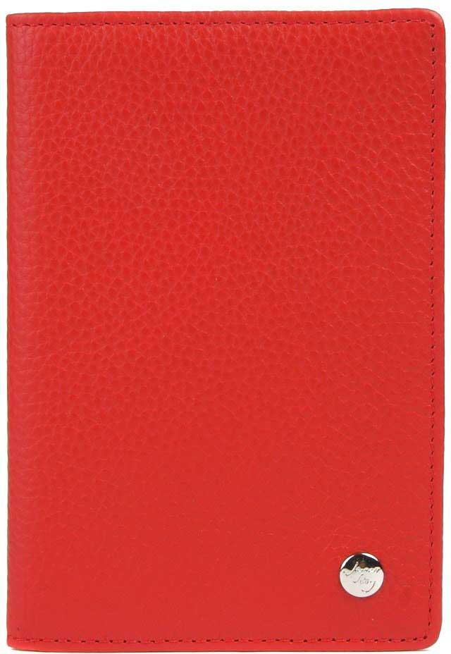 Обложка для паспорта женская Janes Story, цвет: красный. K-LG-P193-12Натуральная кожаКлассическая обложка для паспорта из натуральной зернистой кожи. Упакована в красивую картонную коробочку, прекрасный подарочный вариант.