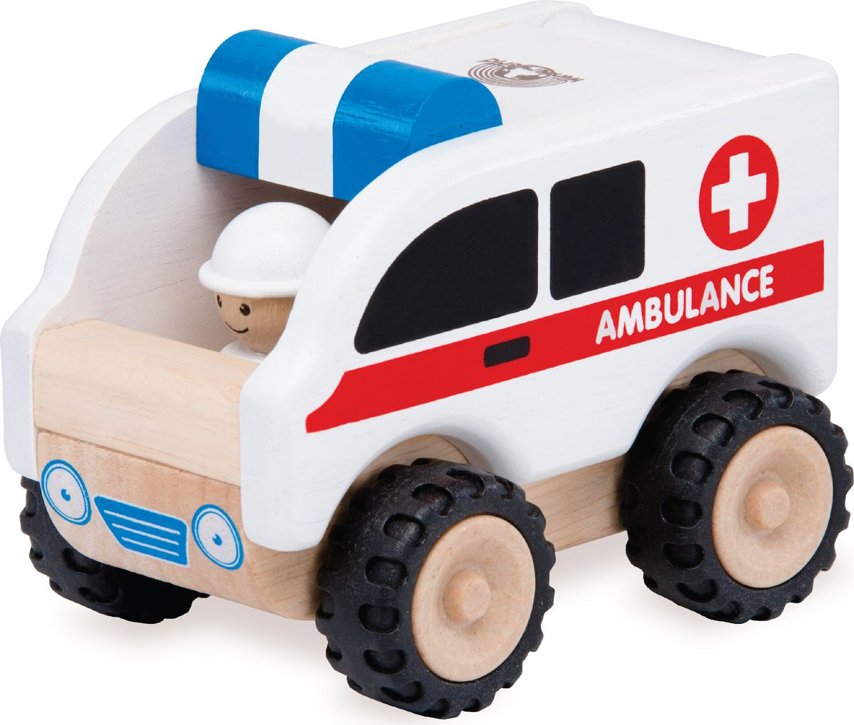 Wonderworld Деревянная игрушка Скорая помощь Miniworld деревянные игрушки wonderworld пожарная машина miniworld