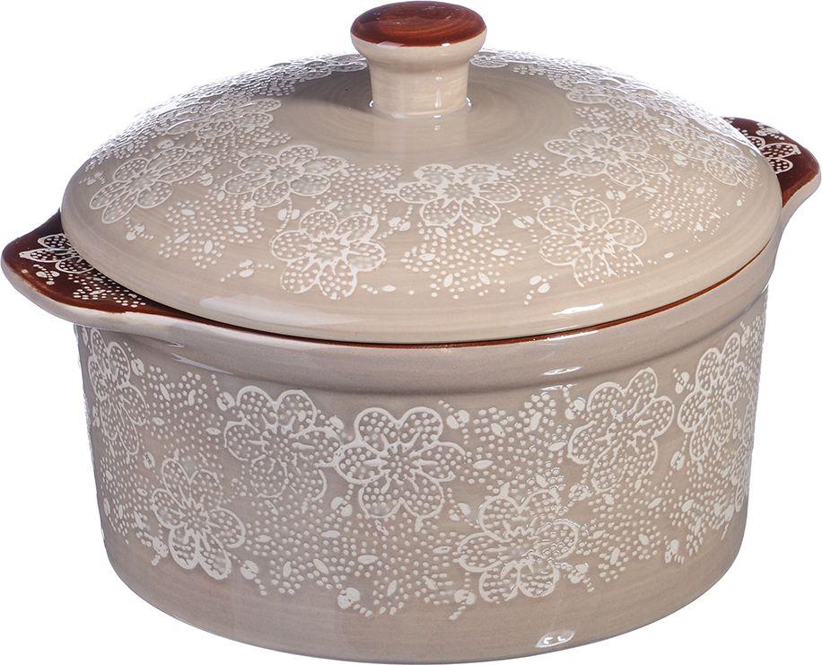 Кастрюля MILLIMI с крышкой изготовлена из высококачественной жаропрочной керамики с глазурованным покрытием и оформлена изящным рисунком, снабжена удобными ручками. Изделие оптимально как для приготовления разнообразных блюд в духовых шкафах, так и для последующей сервировки готового блюда. Можно мыть в посудомоечной машине.