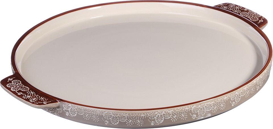 """Форма для запекания """"Millimi"""" изготовлена из экологически чистой жаропрочной керамики с глазурованным покрытием. Изделие удобной и красивой круглой формы с низкими бортами, оформлено изящным рисунком, снабжено удобными ручками, подходит для запекания пирогов. Форма для запекания обеспечивает равномерное приготовление блюд по всей поверхности и долго сохраняет тепло. Отлично подходит для последующей сервировки готового блюда."""