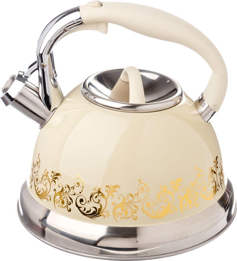 Чайник стальной Vetta Золотая вязь, 3 л чайники для плиты vetta чайник эмалированный