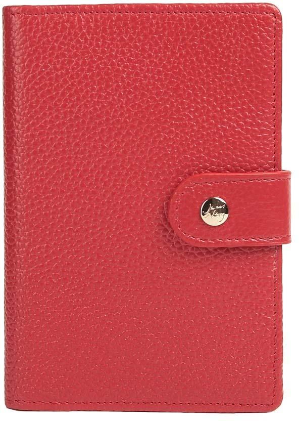 Обложка для паспорта женская Janes Story, цвет: красный. K-P193-12Натуральная кожаКлассическая обложка для паспорта из натуральной зернистой кожи, закрывается на кнопку, под клапаном. Выделено четыре отделения под карты. Упакована в красивую картонную коробочку, прекрасный подарочный вариант.