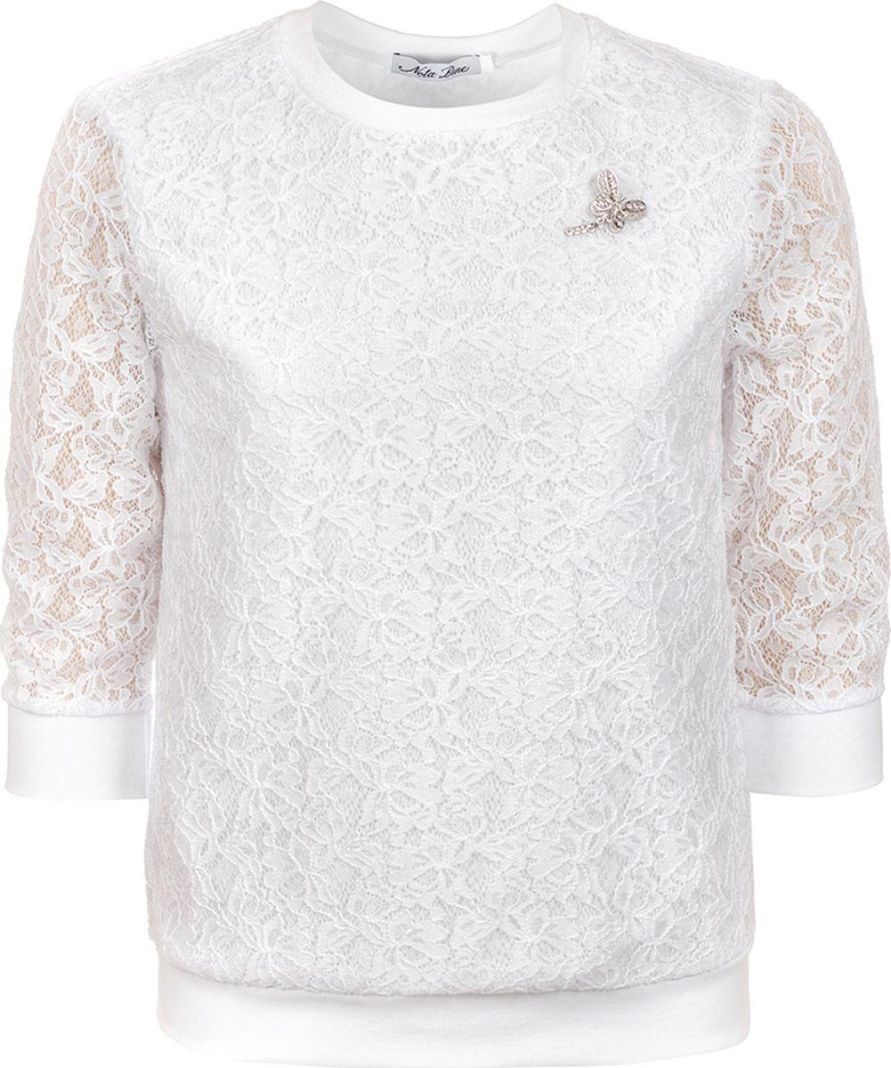 Блузка для девочки Nota Bene, цвет: белый. 181230306_1. Размер 164