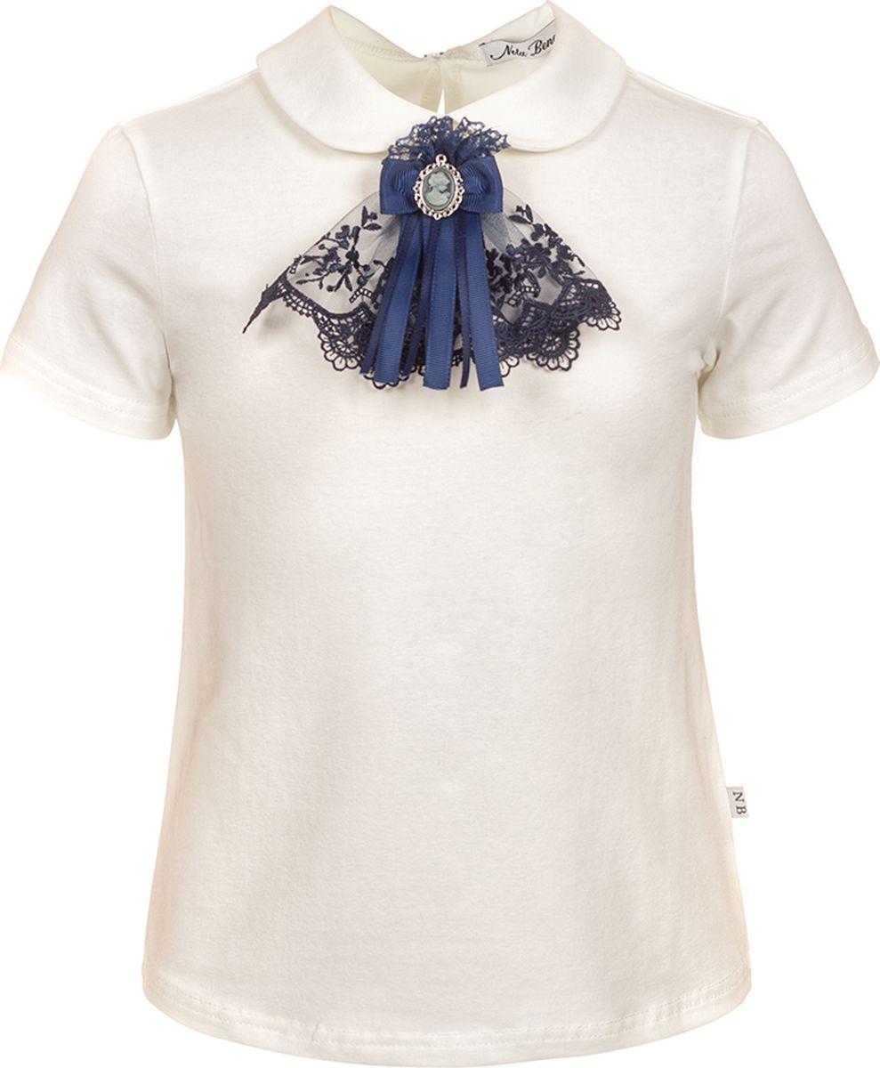 Блузка для девочки Nota Bene, цвет: молочный. 181231205_17. Размер 164 блузка для девочки nota bene цвет молочный aw15gs150a 1 размер 122