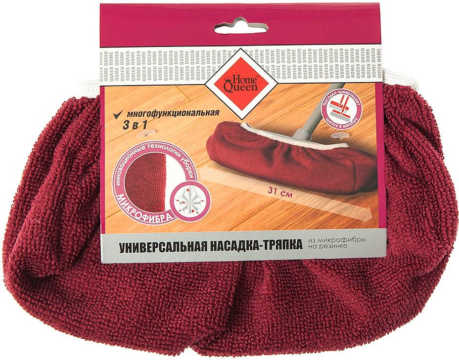 Насадка для швабры HomeQueen, универсальная, на резинке, цвет: красный, 31 х 11 см70798Размер: 31х11 см. Состав: микрофибра.