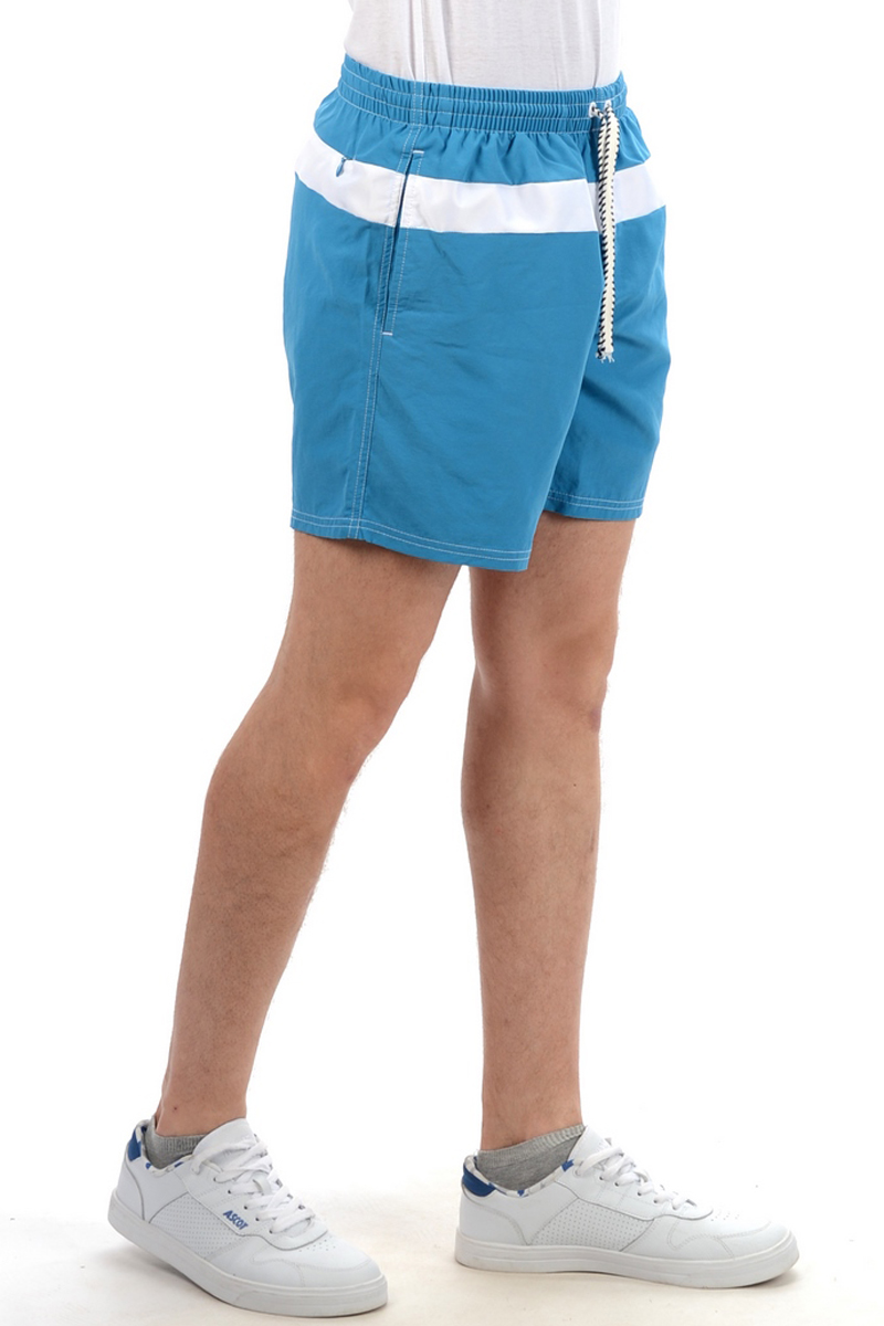 Шорты мужские Stayer, цвет: голубой. 31108/48. Размер 56-18831108/48Легкие укороченные шорты в морской тематике. Модель предназначена для пляжного отдыха и купания. Приятный на ощупь, быстросохнущий материал, укороченная модель, подтрусники из мягкой сетки, комфортный пояс на резинке с регулировкой, 2 боковых кармана.